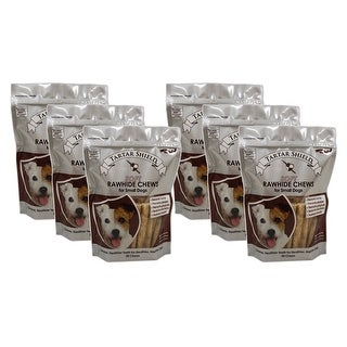 Tartar Shield Soft Rawhide Chews for Small Dogs 30 Count 6 Pack