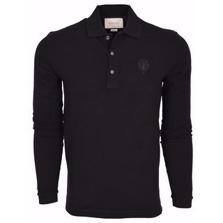 Gucci Men's 441690 Black SLIM Fit Hysteria Crest Cotton Polo Shirt XXXL
