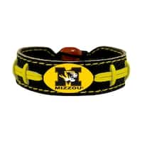 Missouri Tigers Team Color NCAA Gamewear Leather Football Bracelet