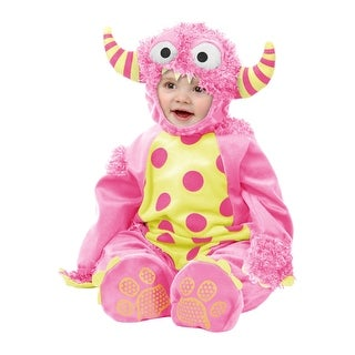 Infant Pink Mini Monster Costume - Baby Furry Monster Jumpsuits (2 options available)