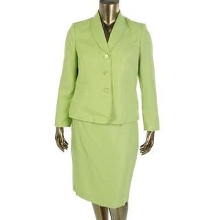 Le Suit Womens Yacht Club Skirt Suit Shimmer 2PC