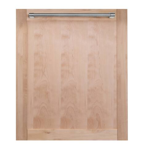 24 in. Top Control Dishwasher in Unfinished Wood with Stainless Steel Tub and Traditional Style Handle