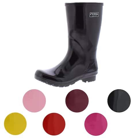 Roma Women's Emma Mid Natural Rubber Vegan Waterproof Rain Boots