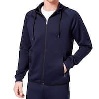 32 Degrees Blue Mens Size Large L Performance Hooded Fleece Jacket