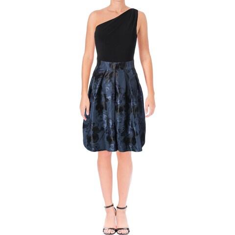 Lauren Ralph Lauren Womens Rayanne Cocktail Dress Pattern Fit & Flare
