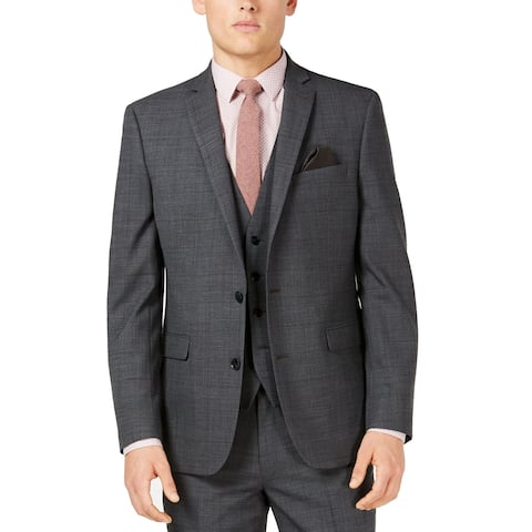 Bar III Mens Suit Seperate Gray Size 36S Short Slim Stretch Two Button