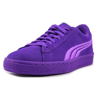 Puma Suede Classic Badge Jr Round Toe Leather Sneakers