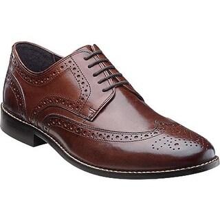 Nunn Bush Men's Nelson 84525 Wing Tip Oxford Brown Leather