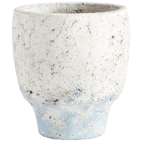 "Cyan Design 09608 Venice 6-3/4"" Diameter Cement Planter - Antique White"