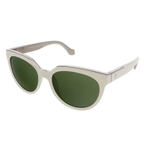 Balenciaga BA0020S 24N White Oval Sunglasses