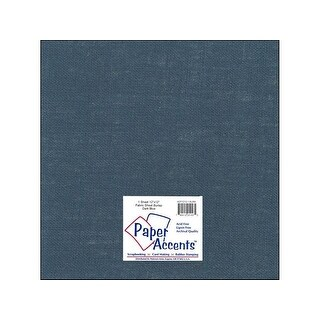 Fabric Sheet 12x12 Burlap Dark Blue 1pc