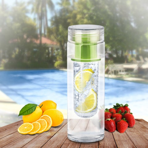 Portable Fruit Infusing Infuser Water Bottle, Non Toxic Bpa Plastic, Green, US