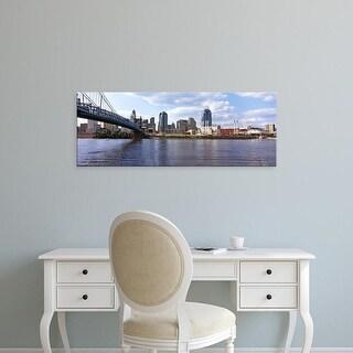 Easy Art Prints Panoramic Images's 'Bridge across the Ohio River, Cincinnati, Hamilton County, Ohio, USA' Canvas Art