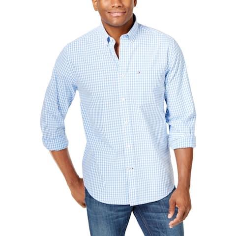 Tommy Hilfiger Mens Big & Tall Button-Down Shirt Plaid Button-Down