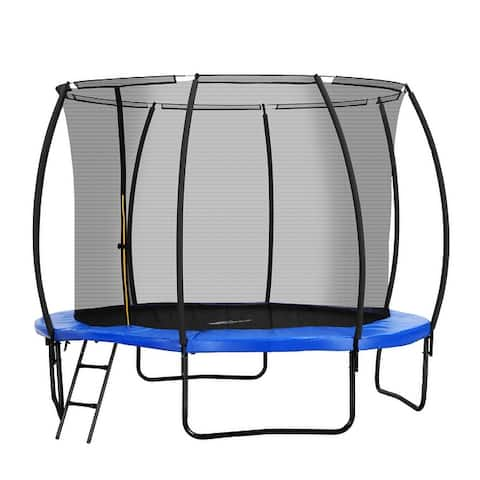 Ainfox 10Ft Trampoline with Safety Enclosure Net,Spring Pad Without Ladder
