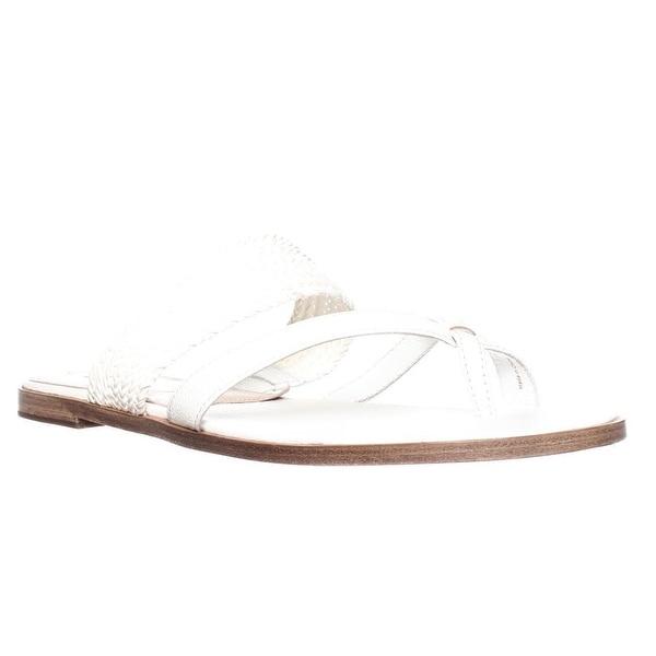 Via Spiga Tamina Toe Ring Slide Sandals, White