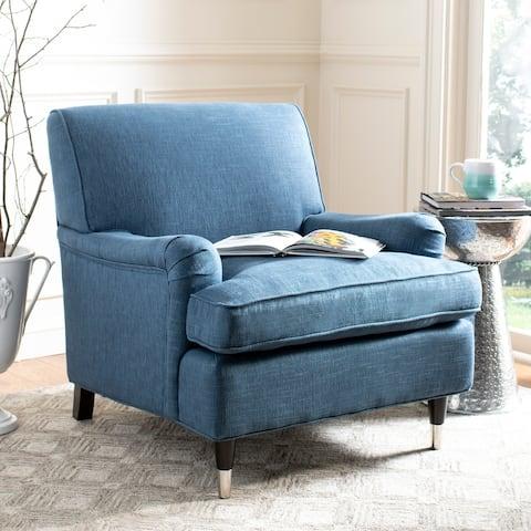 """SAFAVIEH Chloe Navy Club Chair - 29.3"""" x 34.3"""" x 31.5"""""""