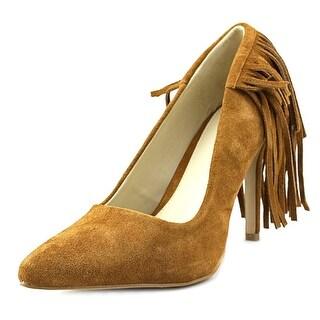 Mia Madalyn Women  Pointed Toe Suede Brown Heels
