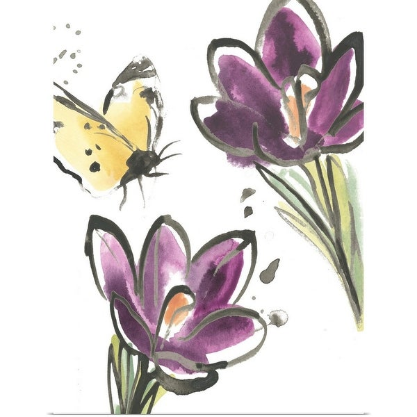 """""""Ink Wash Garden VI"""" Poster Print"""