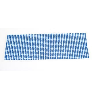 Unique Bargains Auto Vehicle Blue Mini Rhinestones Decor Adhesive Stickers Ornament 25.5cmx9cm
