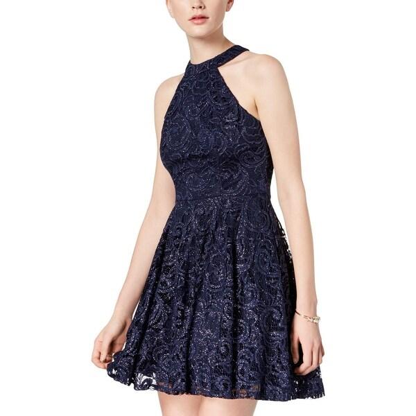 26c3ed72e5 Shop B. Darlin Womens Juniors Semi-Formal Dress Lace Glitter - On ...