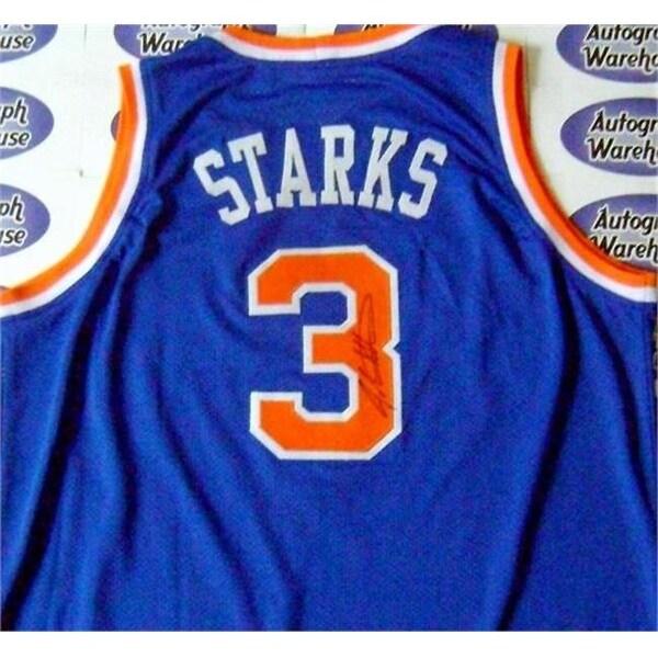 cc67a5ebe75b Shop John Starks Autographed Jersey