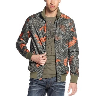 Sean John Big and Tall Neo Camo Birdman Bomber Jacket XXX-Large Grape Leaf Green