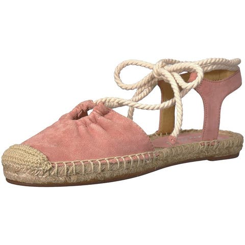 Splendid Womens Frey Leather Closed Toe Ankle Strap Espadrille Flats