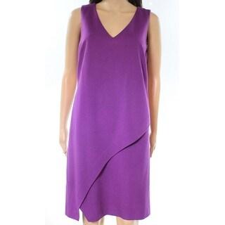 Diane Von Furstenberg NEW Purple Amethyst Women's 8 Jenn Shift Dress