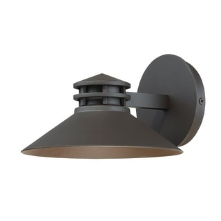 """WAC Lighting WS-W15708 Sodor Single Light 5"""" High Integrated LED Outdoor Wall Sconce with Metal Warehouse Shade"""