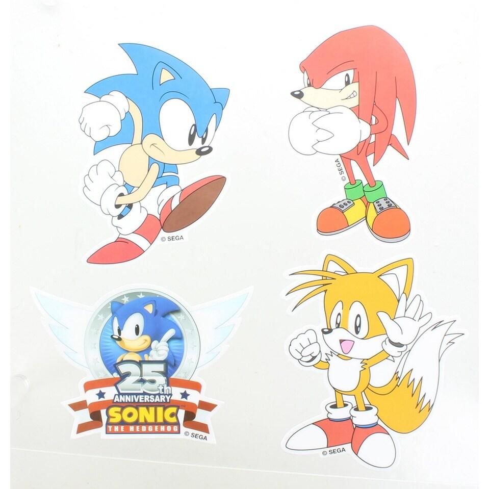 Shop Sonic The Hedgehog Vinyl Stickers Set Of 4 Multi Overstock 19626978