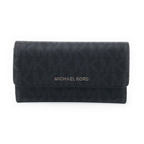 Michael Kors Jet Set Travel Large Trifold Signature PVC Wallet