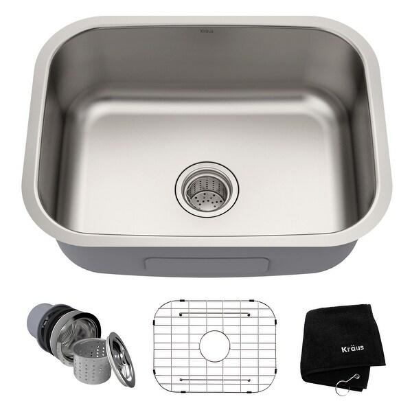 KRAUS Premier Stainless Steel 23 inch Undermount Kitchen Bar Sink. Opens flyout.