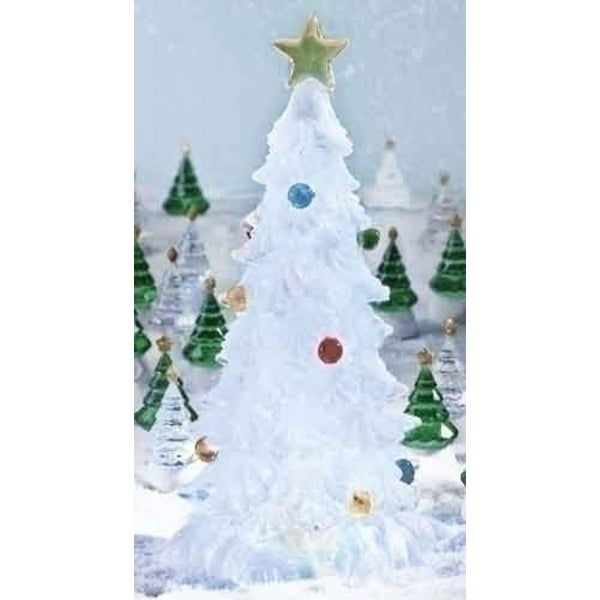 "12"" Glitter Buddies Lighted LED Color Changing Frosted Christmas Tree Decoration - CLEAR"