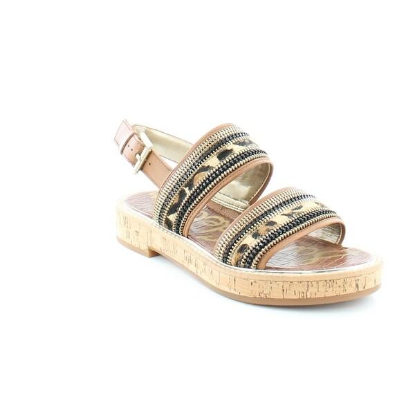 Sam Edelman Nala Women's Sandals & Flip Flops Camel/ Leop Zip