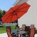 Sunnydaze Aluminum 9 Foot Solar Patio Umbrella with Tilt & Crank - Thumbnail 17