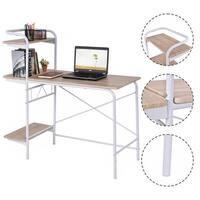 Costway Computer Desk W/3-Tier Book Shelf Home Office Furniture Laptop Writing Desk