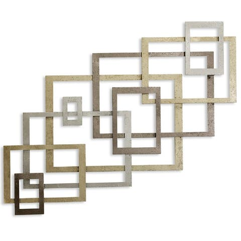 StyleCraft Square Metal Gold Wall Décor