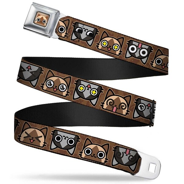 Airou Face Full Color Brown Tan Fade Airou & Merarou Expressions Flip Seatbelt Belt