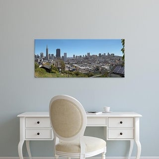 Easy Art Prints Panoramic Images's 'San Francisco downtown skyline and Chinatown district, California, USA' Canvas Art