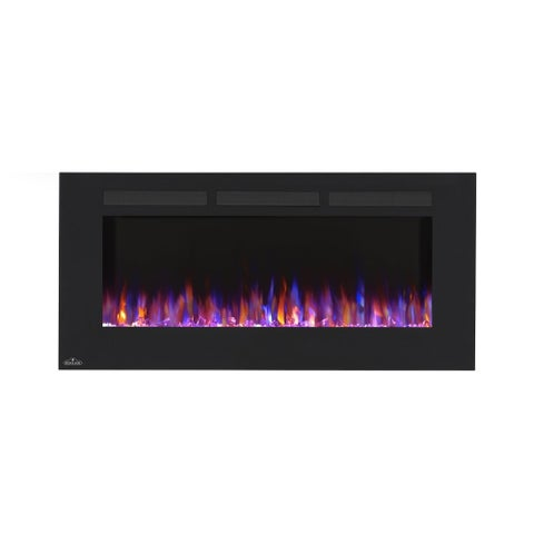 Napoleon NEFL32FH 32 Inch Wide Wall Mount Electric Fireplace with 120V Heater and Touch Screen Control Panel - Black - N/A