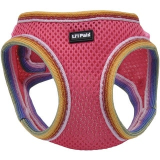 Li'l Pals Comfort Mesh Dog Harness-Pink-Petite Extra Small