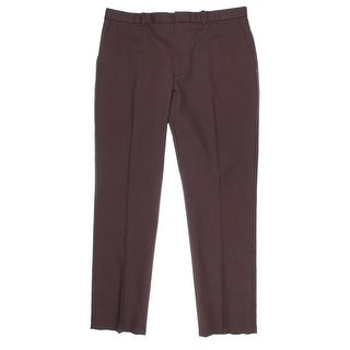 Perry Ellis Mens Chino Pants Slim Fit Flat Front