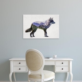 Easy Art Prints Davies Babies's 'Rocky Mountain Grey Wolf' Premium Canvas Art
