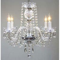 New Authentic All Crystal Chandelier Lighting H17 x W17 - Clear