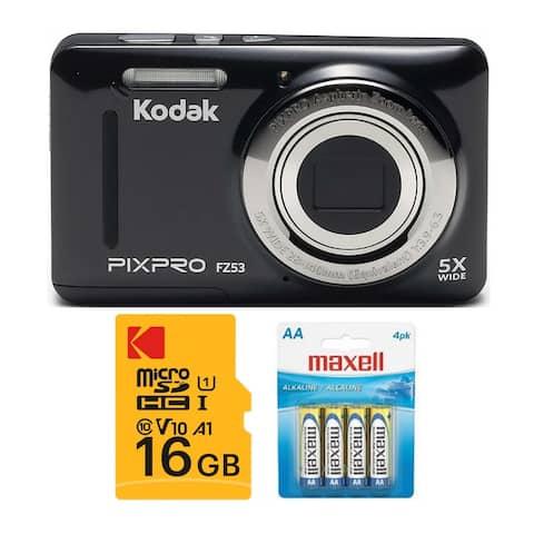 Kodak PIXPRO Friendly Zoom FZ53 Digital Camera with Accessory Bundle