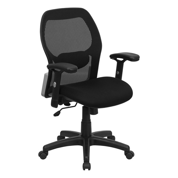 offex mid back super mesh office chair with black fabric seat free