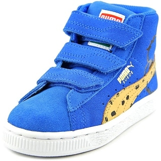 Puma Mid Sesame CM V PS Youth Round Toe Suede Blue Sneakers