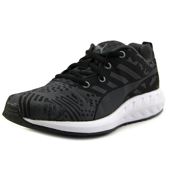 Puma Flare Woven Women Round Toe Canvas Black Sneakers