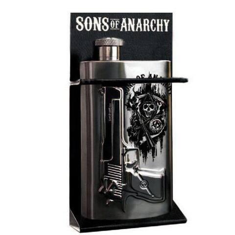 Sons of Anarchy Gun Logo 6 oz. Flask - Multi